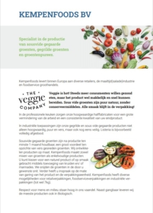 Flyer The Veggie Company